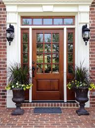 House Exterior Doors Cheap Entry Doors With Sidelights Exterior Wood Glass Therma Tru