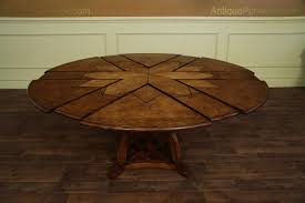 Arts And Crafts Dining Room Set Solid Walnut Round Arts And Craft Expandable Dining Table