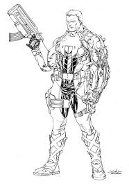 40 best lineart cable x men images on pinterest cable comic