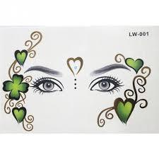1pcs new design body art temporary tattoo sticker face forehead