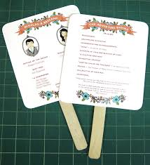wedding fans programs diy easy peasy paddle programs
