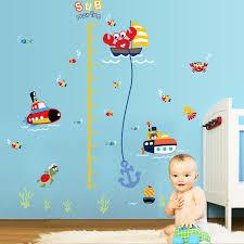 stickers animaux chambre bébé sous marin animaux sticker mural hauteur mesure accueil enfants