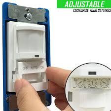 how to adjust motion sensor light switch tsos5 motion sensor light switch