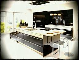 kitchens collections focus lacquer black ultra high gloss and san remo oak kitchen