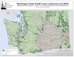 State Of Washington Map by The Rural Technology Initiative