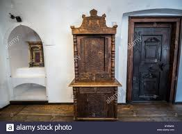Dracula S Castle Old Wooden Furniture In Bran Castle Near Bran Romania So Called