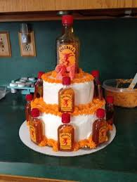 Liquor Bottle Cake Decorations Instead Of The Alcohol Bouquet For The Morning Of The Wedding