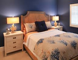 Blue Upholstered Headboard Wilmington Seagrass Headboard Bedroom Beach Style With Stanley