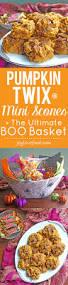 halloween basket pumpkin twix mini scones the ultimate boo basket joy love food