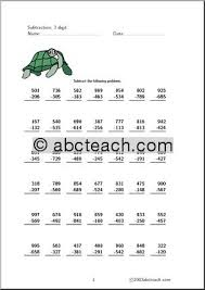 subtraction subtraction worksheets with regrouping for second