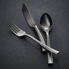 paris hammered titanium cutlery gunmetal 20 piece set a
