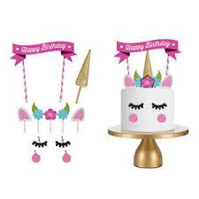 cake topper banner 11pcs glitter unicorn happy birthday cake topper banner decorating