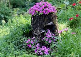 diy outdoor tree stump planter in 4 steps gardenoholic