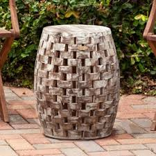 Ceramic Accent Table Accent U0026 Garden Stools You U0027ll Love Wayfair