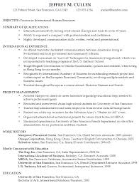 objective for a resume examples resume for international human resources susan ireland resumes