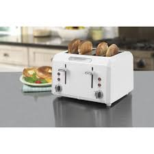 Waring 4 Slice Toaster Review Waring Pro Cool Touch 4 Slice White Toaster Walmart Com