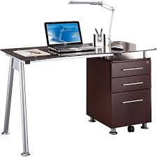 techni mobili double pedestal laminate computer desk chocolate techni mobili rta 1565 computer desk chocolate staples