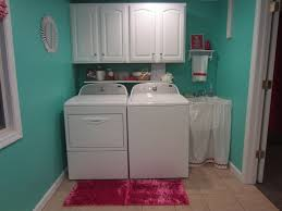 Laundry Room Storage Between Washer And Dryer by Turquoise And Fuschia Laundry Room Reveal The Sensible Home