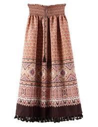 skirt boho long skirt elastic waist brenda shop boho chic