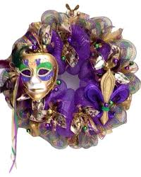 large mardi gras mask large mardi gras wreath with beautiful mask and fleur de lis
