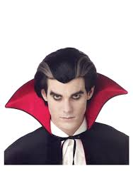 traditional count dracula vampire wig mens vampire halloween