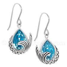 mermaid earrings 79 95 sterling silver mermaid dangle earrings blue