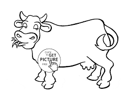 nice cow coloring page for kids animal coloring pages printables