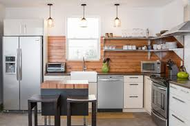 shiplap kitchen backsplash with cabinets how to care for a wood backsplash this house