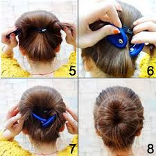hairstyles with a hair donut buy shells 2pcs classy black color cloth magic clip french twist