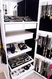 Jewelry Storage Cabinet Length Mirror With Jewelry Storage Closet Traditional With