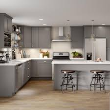 home depot white kitchen base cabinets edson shaker assembled 30x34 5x24 in sink base cabinet in gray