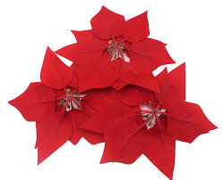 amazon com m2cbridge 50pcs artificial christmas flowers red