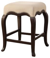 kakabel counter stool cream and espresso traditional bar