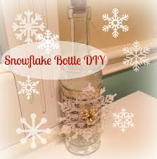 dollar tree snowflake bottle diy decor