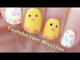 Baby Nail Art Design Very Easy Easter Baby Nail Art Youtube