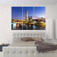 large canvas art seoul skyline canvas print framed home decor