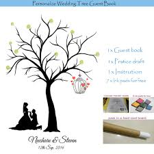 wedding tree personalized wedding tree guest book alternative fingerprint