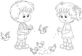 download coloring pages girls boys