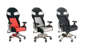 Car Desk Chair Pitstop Lxe Complete Office Furniture Set Red Desk