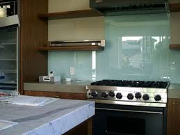 Glossy Kitchen Cabinets Kitchen Design Kitchen Backsplash Glass Tile Ideas Soft Blue