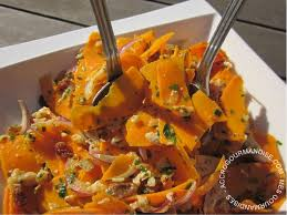 cuisiner du potimarron salade de potimarron cru accrogourmandise
