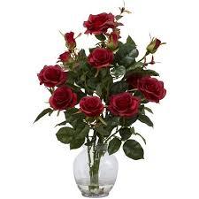 flowers arrangement bush silk flower arrangement with vase walmart