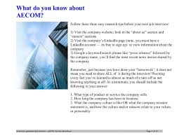 aecom interview questions and answers