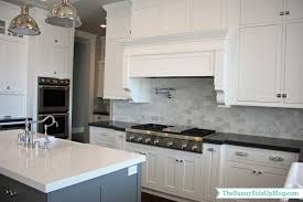 Marble Backsplash Kitchen by My New Kitchen The Sunny Side Up Blog