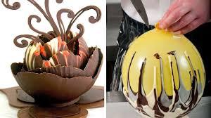 how to make chocolate balloon bowls amazing chocolate cake