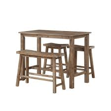Driftwood Outdoor Furniture by Boraam 47 25 In Sonoma Pub Table With 1 Bench And 2 Stools In