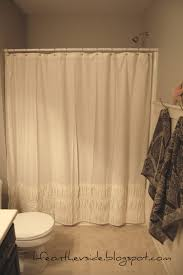Ivory Shower Curtain On The V Side Beachy Bathroom Updates