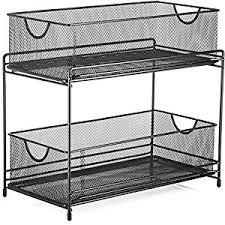 Basket Drawers For Bathroom Amazon Com Halter Two Tier Mesh Storage Drawers Baskets For