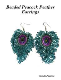 peacock feather earrings s beaded peacock feather earrings b did earrings