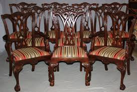 Chippendale Dining Room Chairs Chippendale Table And Chairs Faux Bamboo Dining Chairs For Sale